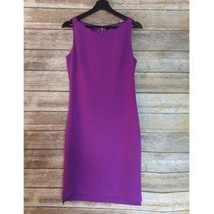 Tahari Purple Sleeveless Sheath Dress